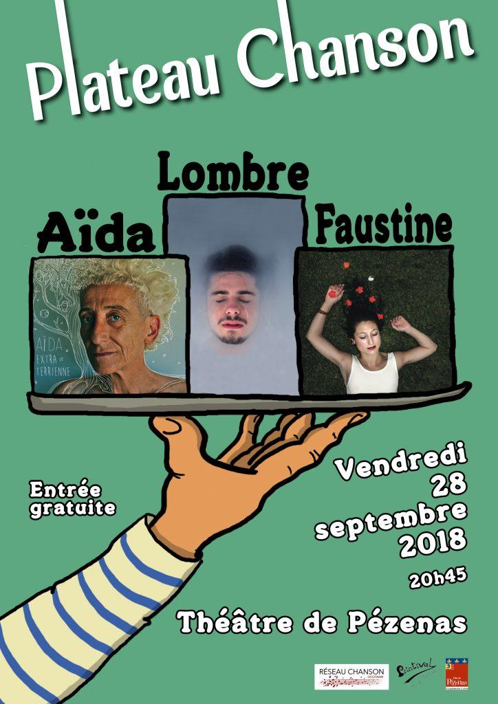 Plateau chanson 2018 Lombre Aïda Faustine au Théâtre de Pézenas